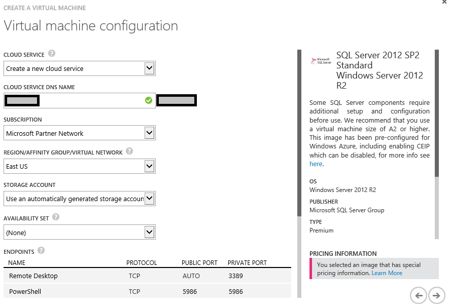 Azure 10 vm config continued