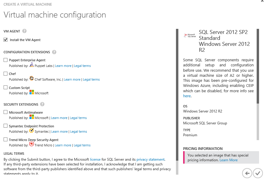 Azure 11 vm config continued