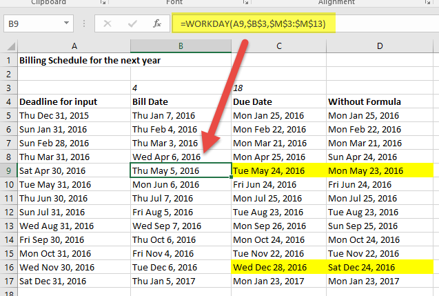 Cool Excel Tip: Dates without holidays included - Microsoft Dynamics