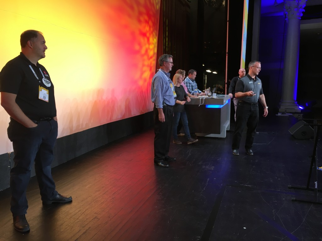 Opening Session rehearsal