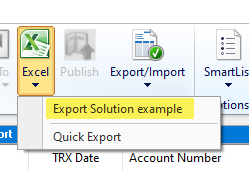 Excel drop down list in SmartList